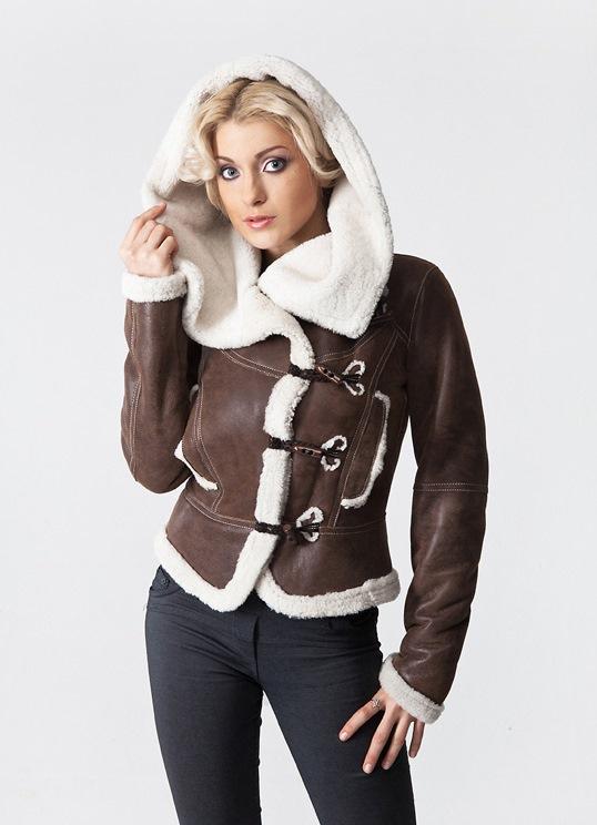 Кожаные на меху женские зима
