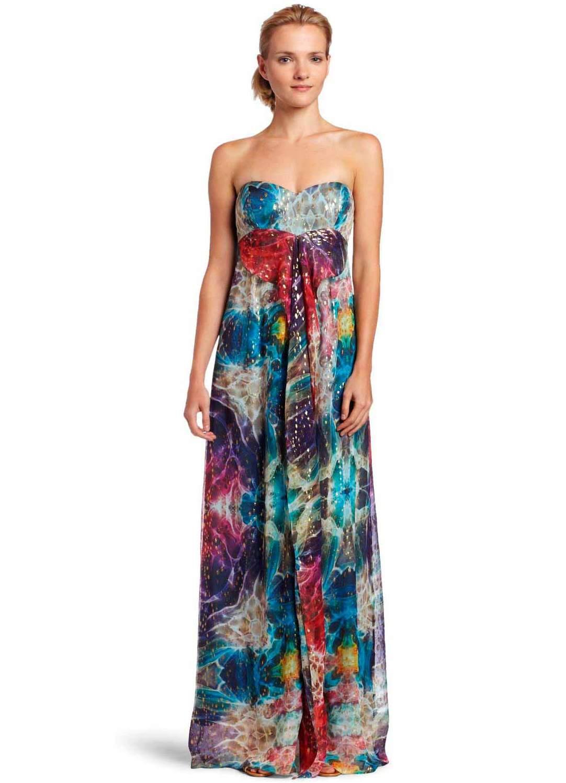 Длинные фасоны летних платьев 2015