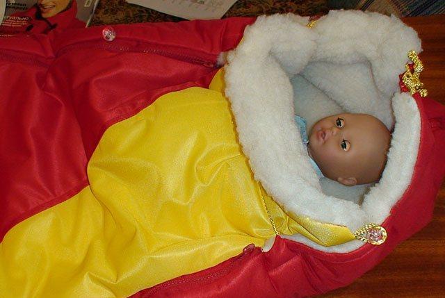 Как сшить конверт для новорожденного зима