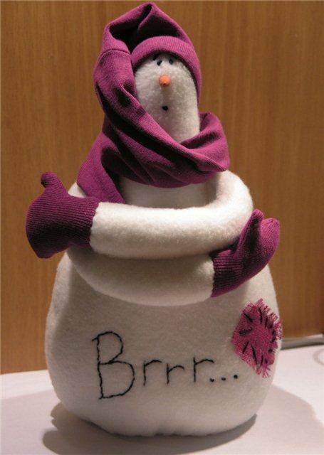Как сшить снеговика своими руками на новый