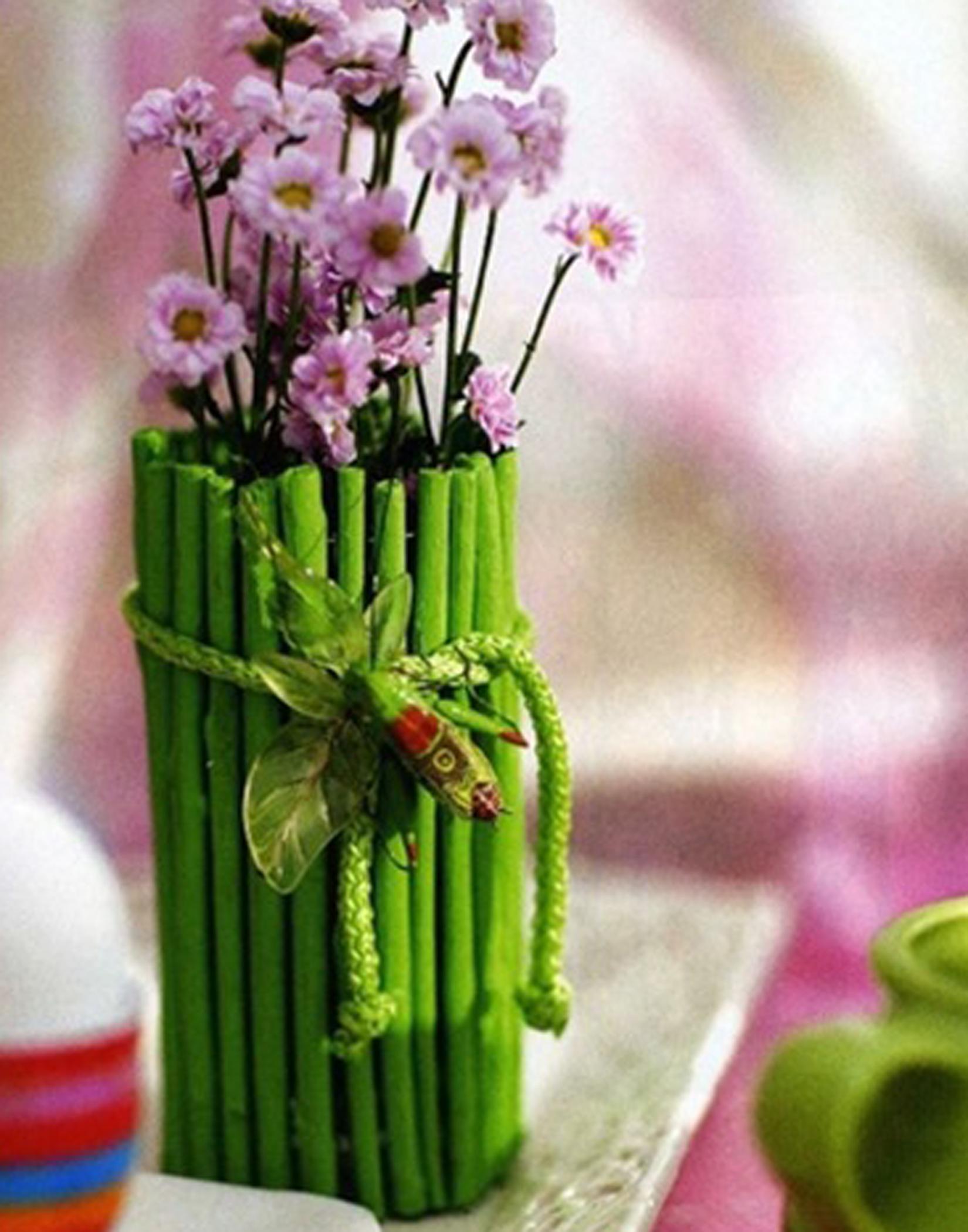Как украсить вазу своими руками фото фото 561