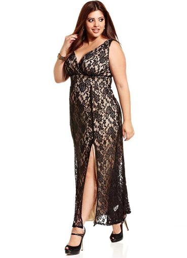 Модные платья для полных женщин 2014 3