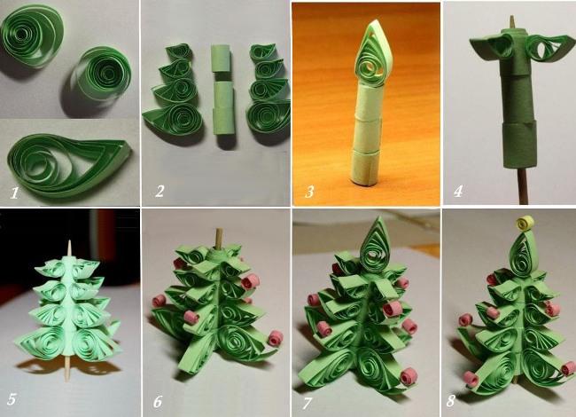 Как сделать елку своими руками из бумаги
