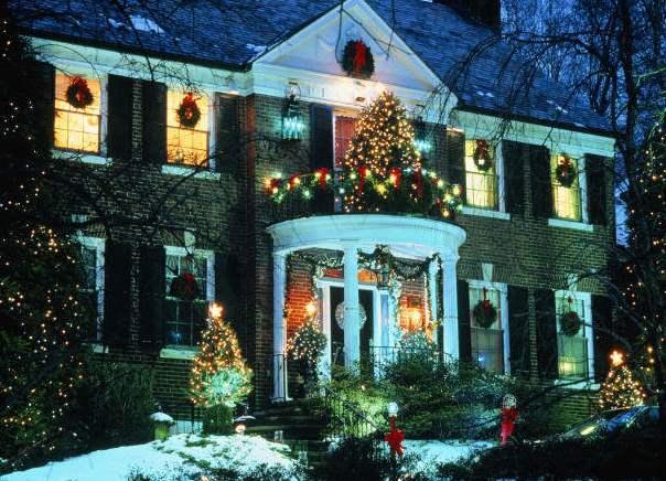 Новогоднее украшение здания своими руками