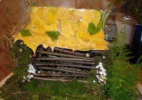 Домик из природного материала своими руками фото