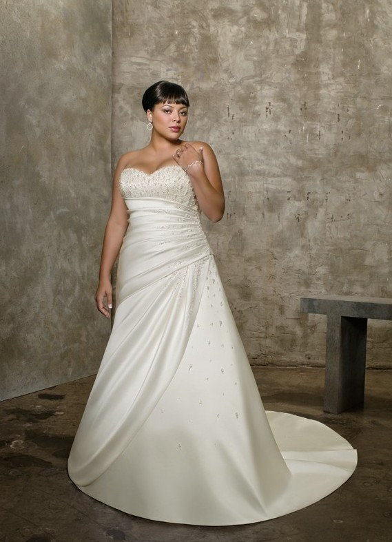Свадебные платья и прически в стиле