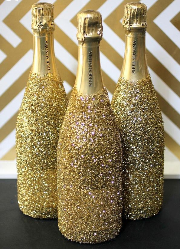 Новогодний декор шампанского своими руками