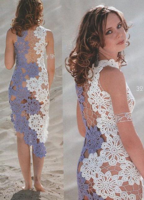 женская одежда платья вязаные